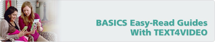 BASICS Easy-Read Guides With TEXT4VIDEO