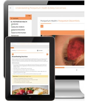 Understanding Postpartum Health & Baby Care eClass product on devices