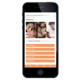 Postpartum Health & Baby Care Web App on phone