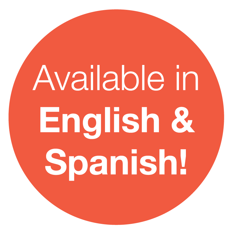 Available in English & Spanish!