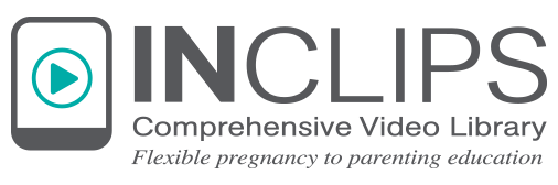 Logo InClips, Comprehensive Video Library, Flexible pregnancy to parenting education