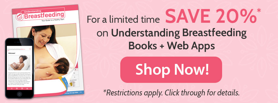 Understanding Breastfeeding Book + Web App 20% off sale, click for details